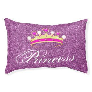 Pink Glitter Princess Crown Queen Dog Cat Pillow
