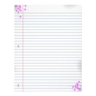 Pink Glitter Punk Notebook Paper