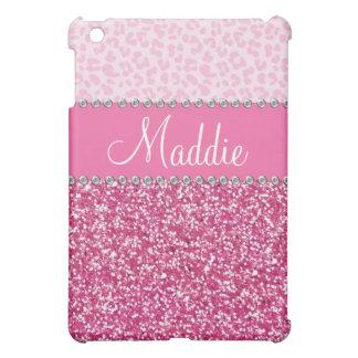 Pink Glitter Rhinestone Leopard BLING Case iPad iPad Mini Covers