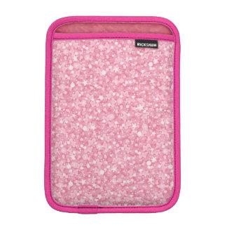 Pink Glitter Silver Gradient iPad Mini Sleeve