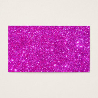 Pink Glitter Sparkle Customizable Design Business Card
