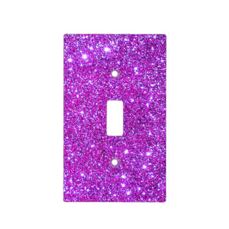 Pink Glitter Sparkle Girly Lightswitch Cover 2 Light Switch Cover