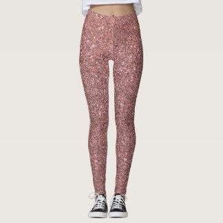 Pink Glitter Sparkle Leggings