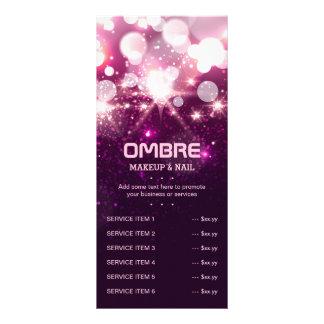 Pink Glitter Sparkles - Price Service List Menu Rack Card Template