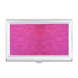 Pink Glitter Sparkly Business Card Case 1