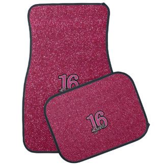 Pink Glitter SWEET16 Car Mat
