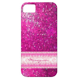 Pink Glitter Texture & Pink Damasks iPhone 5 Covers