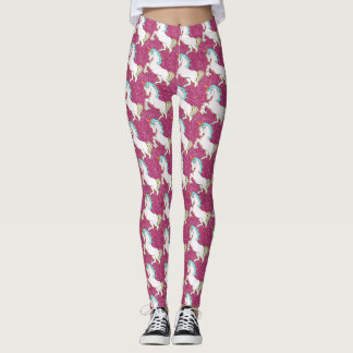 Pink Glitter Unicorn Leggins Leggings
