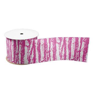 Pink Glitter Wood Grain Satin Ribbon
