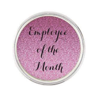 Pink Glittery Gradient Lapel Pin