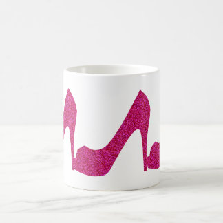 Pink Glittery High Heels Coffee Mug