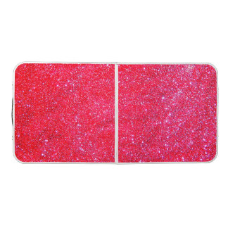 Pink Glittery Sparkly Girly Glam Table Tennis