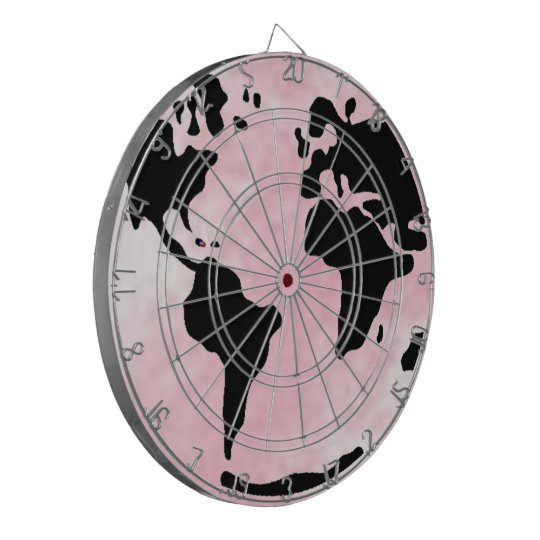 Pink Globe Dartboard