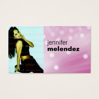 Pink Glow Headshot Business Card