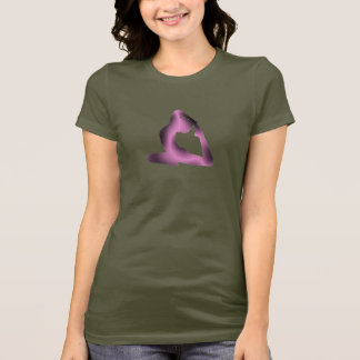Pink Glow Yoga Pose T-Shirt