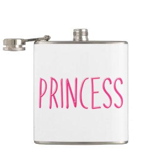 Pink glowing princess hip flask