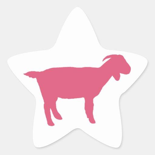 Pink Goat Sticker