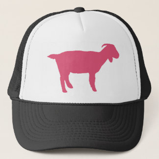 Pink Goat Trucker Hat