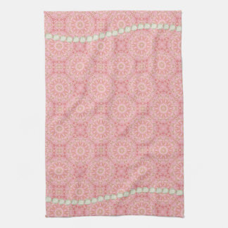 Pink, Gold, and Pearl Tea Towel