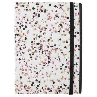 Pink Gold Black Confetti