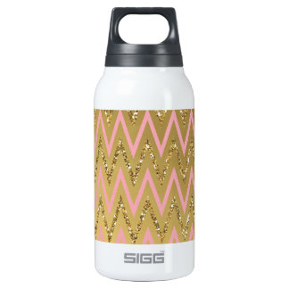 Pink & Gold Chevron Pattern SIGG Thermo 0.3L Insulated Bottle