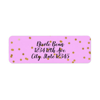 Pink & Gold Confetti Dots Modern Glamour Glam