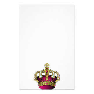 Pink & Gold Crown Personalized Stationery