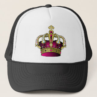Pink & Gold Crown Trucker Hat