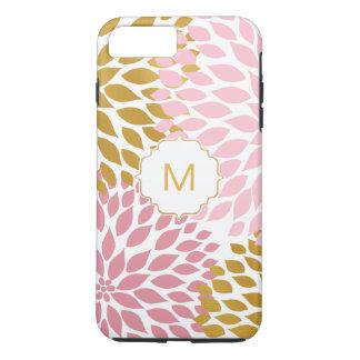 Pink Gold Dahlia Floral blooms iPhone 8 Plus/7 Plus Case