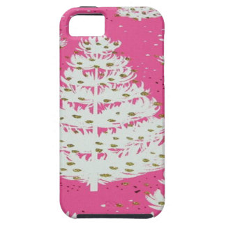 Pink Gold Glitter Christmas Holiday Tree Case For The iPhone 5