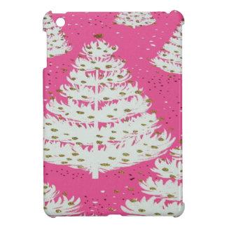 Pink Gold Glitter Christmas Holiday Tree iPad Mini Cover