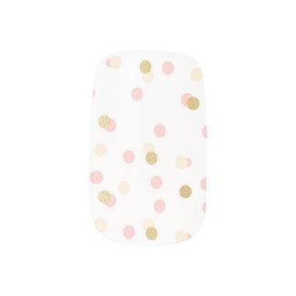Pink & Gold Glitter Confetti Nail Stickers