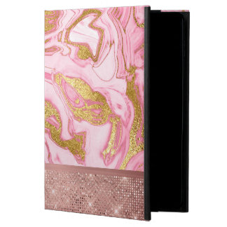 Pink Gold Gold Glitter and Sparkle Marble Powis iPad Air 2 Case