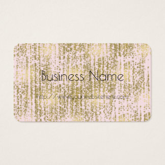 Pink Gold Jewel Bokeh Abstract Business Card