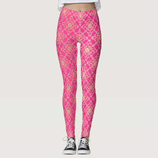 pink & gold leggings
