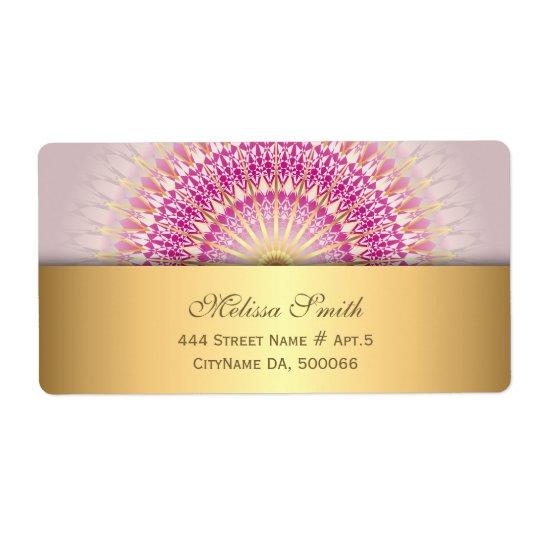 Pink Gold Mandala