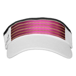Pink Gold Metallic Pattern Visor