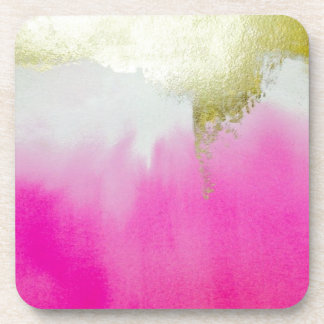 Pink Gold Ombre Coasters