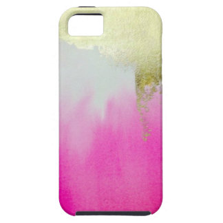 Pink Gold Ombre iPhone 5 Covers
