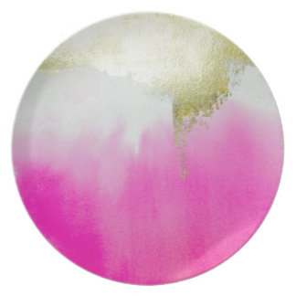Pink Gold Ombre Plate