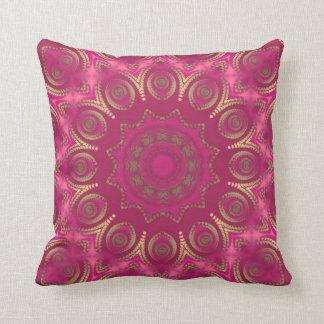 pink & gold throw pillows