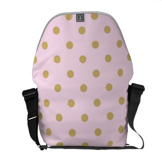 Pink & Gold Polka Dots Trendy Pattern Modern Glam Courier Bags