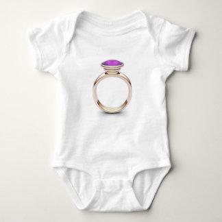 Pink gold ring baby bodysuit