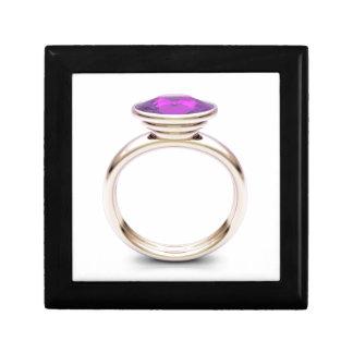 Pink gold ring gift box