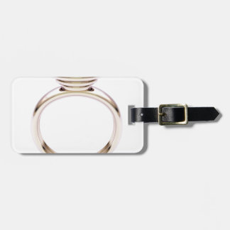 Pink gold ring luggage tag