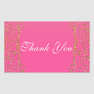 Pink & Gold Royal Castle Fairy Tale Princess Favor Sticker