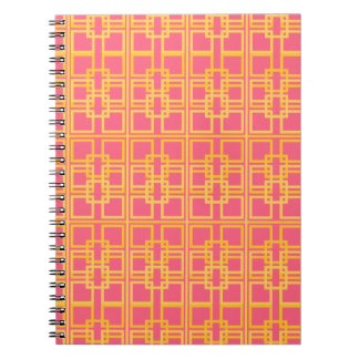 Pink Gold Royal Princess Pattern Design Notebook