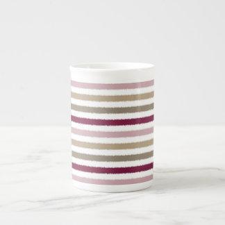 Pink Gold Stripes Bone China Mug