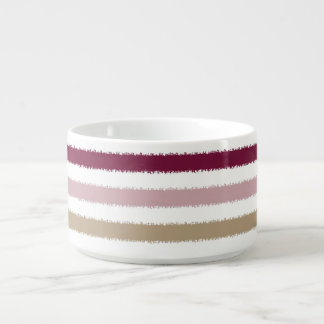 Pink Gold Stripes Chili Bowl