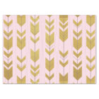 Pink Gold Tribal Arrows Tissue Paper